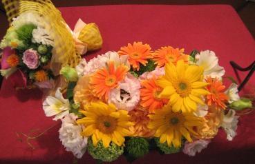 ウェディングブーケ&メインテーブル装花
